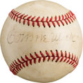 Autographs:Baseballs, Circa 1940's Connie Mack Single Signed Baseball....