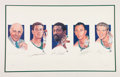 Basketball Collectibles:Others, Early 1990's Red Auerbach, John Havlicek, Bill Russell, Bob Cousy& Tom Heinsohn Signed Lithograph....