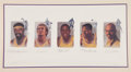 Basketball Collectibles:Others, 1992 Wilt Chamberlain, Jerry West, Magic Johnson, Elgin Baylor& Kareem Abdul-Jabbar Signed Lithograph....
