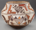 American Indian Art:Pottery, A LAGUNA/ACOMA POLYCHROME JAR . c. 1920...