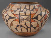 AN ACOMA POLYCHROME JAR c. 1940
