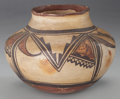 American Indian Art:Pottery, A HOPI (POLACCA) POLYCHROME JAR . c. 1870. ...