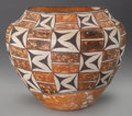 American Indian Art:Pottery, AN ACOMA POLYCHROME JAR . c. 1920...