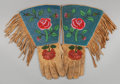 American Indian Art:Beadwork and Quillwork, TWO PAIRS OF PLATEAU BEADED HIDE GAUNTLETS. c. 1910... (Total: 2Items)