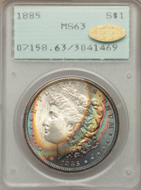 1885 $1 MS63 PCGS. Gold CAC. PCGS Population (20902/34992). NGC Census: (21754/42989). Mintage: 17,787,768. Numismedia W...