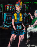 Illustration:Sporting, LEROY NEIMAN (American, 1921-2012). Slot Change Girl (The Girlsof Caesars Palace), 1980. Oil on canvas. 30 x 24 inches ...