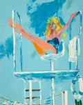 Illustration:Sporting, LEROY NEIMAN (American, 1921-2012). Lifeguard (The Girls ofCaesars Palace), 1980. Oil on canvas. 30 x 24 inches (76.2 x...