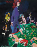 Illustration:Sporting, LEROY NEIMAN (American, 1921-2012). Baccarat Dealer (The Girlsof Caesars Palace), 1980. Oil on canvas. 30 x 24 inches (...