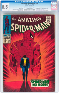 The Amazing Spider-Man #50 (Marvel, 1967) CGC VF+ 8.5 Off-white to white pages