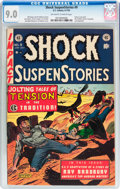 Golden Age (1938-1955):Horror, Shock SuspenStories #9 (EC, 1953) CGC VF/NM 9.0 Off-white to whitepages....