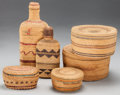 American Indian Art:Baskets, SIX WEST COAST TWINED BASKETRY ITEMS. c. 1910 - 1940... (Total: 6Items)