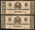 Confederate Notes:1863 Issues, T62 $1 1863 PF-17 Cr. 480;. T62 $1 1863 PF-18 Cr. 482.. ... (Total:2 notes)