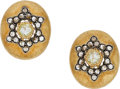 Estate Jewelry:Earrings, Diamond, Colored Diamond, Gold, Silver Earrings, Buccellati. ...