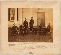 Alexander Gardner Photograph of George G. Meade and Staff Signed
