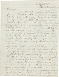 """Confederate General Thomas J. """"Stonewall"""" Jackson Autograph Letter Signed"""