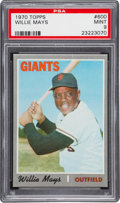 Baseball Cards:Singles (1970-Now), 1970 Topps Willie Mays #600 PSA Mint 9 - Only One Higher. ...