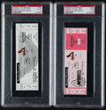 Baseball Collectibles:Tickets, 1998 Mark McGwire 62nd Home Run PSA Graded Full Ticket Pair (2)....