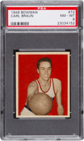 Basketball Cards:Singles (Pre-1970), 1948 Bowman Carl Braun #72 PSA NM-MT 8....