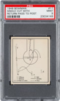 "Basketball Cards:Singles (Pre-1970), 1948 Bowman ""Single Cut With Return Pass to Post"" #11 PSA Mint 9 -None Higher...."