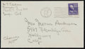 Miscellaneous Collectibles:General, 1949 Bill Tilden Signed Envelope....