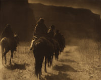 EDWARD SHERIFF CURTIS (American, 1868-1952) The Vanishing Race - Navaho, 1904 Orotone print 11 x