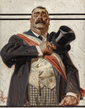 Paintings, JOSEPH CHRISTIAN LEYENDECKER (American, 1874-1951). The Candidate, The Saturday Evening Post cover, September 18, 1920. ...
