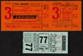 Miscellaneous Collectibles:General, 1955 and 1957 Polo Grounds Tickets - One From Final Giants BaseballGame at the Historic Stadium....