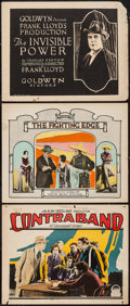 """Movie Posters:Crime, Contraband & Others Lot (Paramount, 1925). Lobby Cards &Title Lobby Card (11"""" X 14""""). Crime.. ... (Total: 3 Items)"""