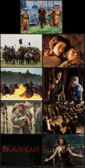 """Movie Posters:Action, Braveheart (Paramount, 1995). Deluxe Lobby Card Set of 9 (11"""" X14""""). Action.. ... (Total: 9 Items)"""