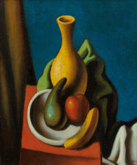 THOMAS HART BENTON (American, 1889-1975) Still Life with Vase and Fruit, 1923 Oil on canvas 22 x