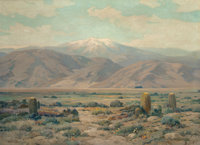 ANGEL ESPOY (American, 1879-1963) Into the Valley, Southern California Oil on canvas 28-1/8 x 38-