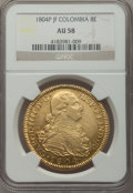 Colombia, Colombia: Charles IV gold 8 Escudos 1804 P-JF AU58 NGC,...
