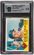 Baseball Cards:Unopened Packs/Display Boxes, 1960 Topps Baseball 2nd Series 12 Card Cello Pack GAI NM+ 7.5 - Possible Yastrzemski Rookie! ...