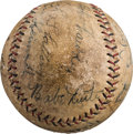 Autographs:Baseballs, Late 1920's Babe Ruth, Lou Gehrig & More Signed Baseball....