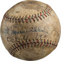 Autographs:Baseballs, 1920's Rabbit Maranville Single Signed Baseball....