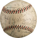 Autographs:Baseballs, 1930 Boston Reunion Signed Baseball with Cy Young, JamesCollins....