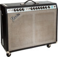 Musical Instruments:Amplifiers, PA, & Effects, 1974 Fender Twin Reverb Black Guitar Amplifier....