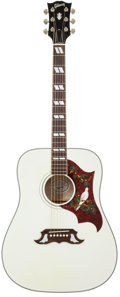 Musical Instruments:Acoustic Guitars, 2007 Gibson Dove White Acoustic Electric Guitar, Serial # 02357021....