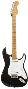 "Musical Instruments:Electric Guitars, 2006 Fender Custom Shop Eric Clapton ""Blackie"" Stratocaster BlackSolid Body Electric Guitar, Serial # MK407...."