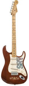 Musical Instruments:Electric Guitars, 2007 Fender Custom Shop Lenny Stratocaster Brown Solid BodyElectric Guitar, Serial # DG504....