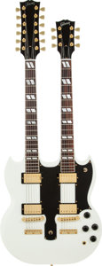 Musical Instruments:Electric Guitars, 2007 Gibson Custom Shop EDS-1275 White Solid Body Electric Guitar, Serial # CS73126....
