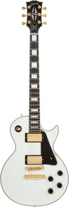 Musical Instruments:Electric Guitars, 2007 Gibson Les Paul Custom White Solid Body Electric guitar, Serial # CS72468....