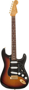 Musical Instruments:Electric Guitars, 2006 Fender SRV Stratocaster Sunburst Solid Body Electric Guitar,Serial # SZ6001791....