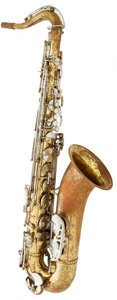 Musical Instruments:Horns & Wind Instruments, 1930's H.N. White King Zephyr Brass Tenor Saxophone, Serial #145887....