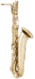 Musical Instruments:Horns & Wind Instruments, Late 1960's Martin Committee Brass Baritone Saxophone, Serial # 314445. ...