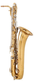 Musical Instruments:Horns & Wind Instruments, 1980's Selmer USA Brass Baritone Saxophone, Serial # 983887....
