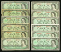 Canadian Currency: , A Dozen Canadian $1s.. ... (Total: 12 notes)