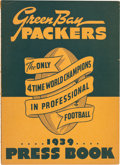 Football Collectibles:Publications, 1939 Green Bay Packers Press Book....
