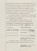 Football Collectibles:Others, 1961 Red Cochran Signed Green Bay Packers Contract Also Signed by Vince Lombardi. ...