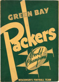 Football Collectibles:Publications, 1940 Green Bay Packers Press Book....